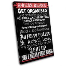 Family House Rules Typography - 13-2378(00B)-SG32-PO